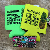 🍍 Sweet Pineapple Can Holder – Frogstones Boutique