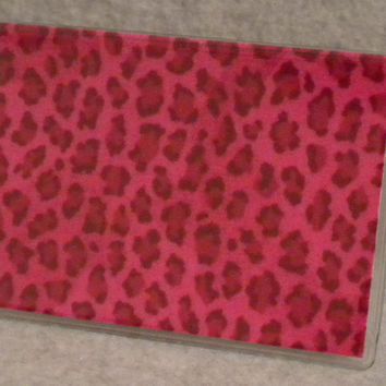 PINK CHEETAH Card Case Mini Wallet