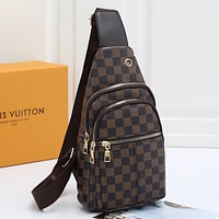 Louis Vuitton Woman Men Fashion Leather Chest Bag Crossbody Shoulder Bag Satchel