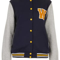 Longline Hooded Varsity Bomber - New In This Week - New In - Topshop USA