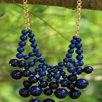 Have A Ball Necklace in Navy