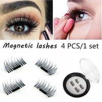 4pcs Magnetic Eyelashes Maquiagem False Lashes Long Magnetic Lashes False Eyelashes High Quality Makeup 3d Lashes Kit Set