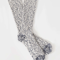 Mr. Gray Slub Socks in Navy