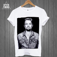 Leonardo dicaprio Mens swag hipster T-SHIRT great gatsby FRESH womens homies dope Wolf of Wall Street