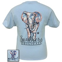 SALE Girlie Girl Originals Preppy Watercolor Elephant T-Shirt