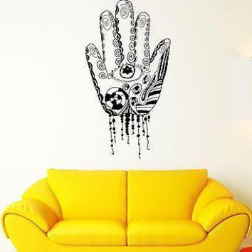 Wall Decal Hand Palm Fingers Art Patterns Symbolism Mural Vinyl Stickers Unique Gift (ed121)