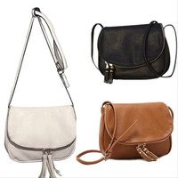 Women Leather Tassel Handbag Crossbody Bag Messenger Tote Purse Satchel Fashion