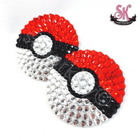 Pokeball Pokemon Inspired Rhinestone Pasties