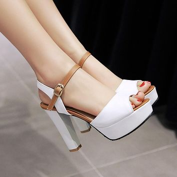High Heels Sandals Pumps Platform Fish Mouth Women Shoes