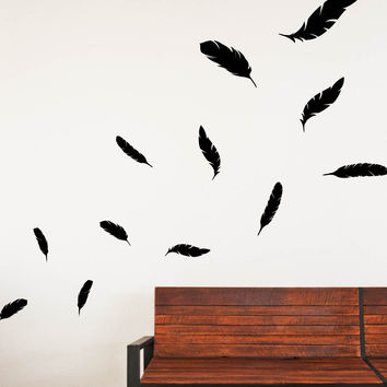 Falling Feathers Wall Decals