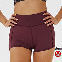 Onewel Lululemon  athletica women's fitness stretch breathable quick-drying shorts Purple