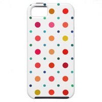Yellow, Red, Orange, Brown, Green, Blue Polka Dots iPhone 5 Cases from Zazzle.com