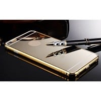 Sankuwen® 2015 Ultra-thin Luxury Aluminum Metal Mirror Case Cover for iPhone 6 Plus (Gold)