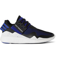 Y-3 - Retro Boost Leather-Trimmed Neoprene and Mesh Sneakers