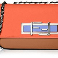 Fendi Women's 3Baguette With Cross-Body Chain, Corteccia/Poppy/Black