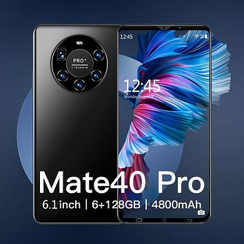 Hawei Mate 40 Pro Global Version 5G Network 6.1inch Smartphone 4800mAH Android Mobile Phones 6GB+128GB Cell Smart phones celular