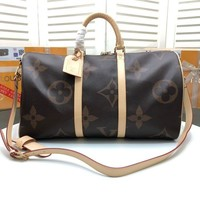 DCCK LV Louis Vuitton MONOGRAM CANVAS KEEPALL 50 SHOULDER BAG TRAVEL BAG