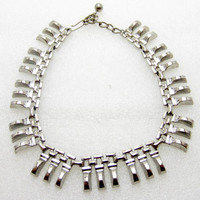 silver choker/ silver necklace/ statement necklace/ stainless steel necklace/ Egyptian necklace/ chunky silver necklace/ chunky necklace