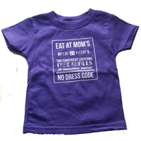 Eat At Mom's Baby & Toddler T-Shirt in Grape Jelly