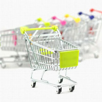 Recent Supermarket Shopping Mini Trolley Phone Holder Office Desk Storage Toy Cart Baby Toy Handcart Accessories
