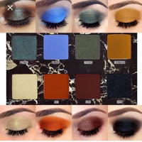 12 color matte eye shadow matte eyeshadow warm earth colors Faced Neutral Nudes Warm Eyeshadow