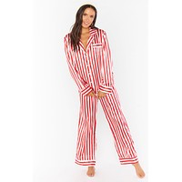 Classic PJ Set Peppermint Stripe