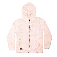 Hooded Sherpa Pullover in Cream by Simply Southern