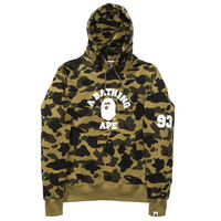 BAPE 1ST CAMO COLLEGE PULLOVER HOODIE   Undefeated