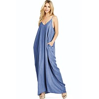 Spellbound Chambray Maxi Dress