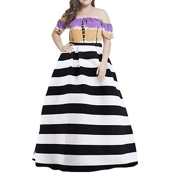 Women's High Waist Long Length Skirt -  Sizes Small - 2XLarge