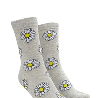 Daisy Graphic Crew Socks