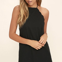 Endlessly Endearing Black Bodycon Dress