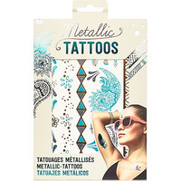 River Island Girls metallic turquoise temporary tattoos