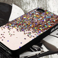 sparkle glitter design  for iPhone 4 case, iPhone 4s case, iPhone 5 case, samsung galaxy S3 and samsung galaxy S4 case
