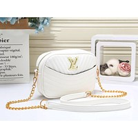 LV Louis Vuitton Fashion Women Leather Crossbody Satchel Shoulder Bag White