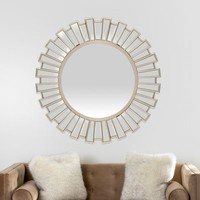 Jeter Champagne Wood & Glass Mirror