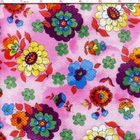 1/2 Yard Quilt Fabric Quilting Bee Roses Floral Multi Pink Red Blue