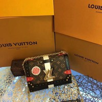DCCK L018 Louis Vuitton LV EPI Monogram Twist Handbag 23-17-9.5cm Maroon