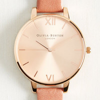 Classic Company Watch in Mauve & Rose Gold - Big | Mod Retro Vintage Watches | ModCloth.com