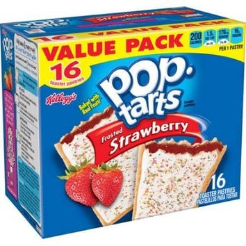 Kellogg's Pop-Tarts Frosted Strawberry Toaster Pastries, 16 count, 29.3 oz - Walmart.com
