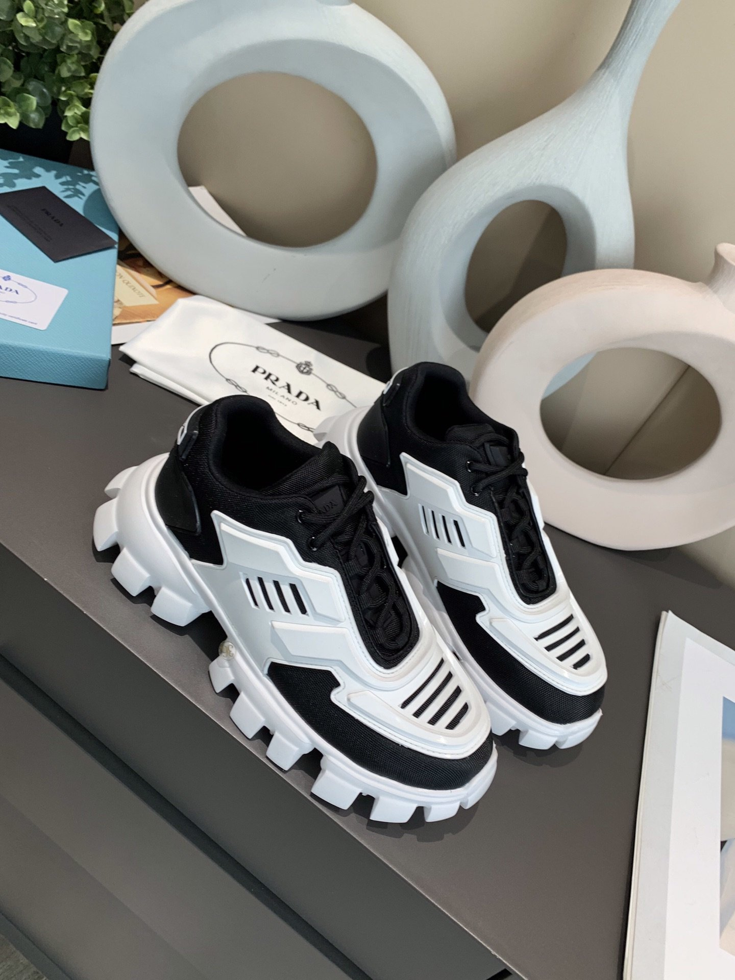Image of prada womans mens 2020 new fashion casual shoes sneaker sport running shoes 28