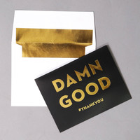 Notecard {Damn Good} - Set of 10 - Black