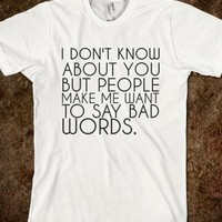 Supermarket: Bad Words T-Shirt from Glamfoxx Shirts
