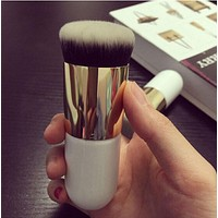 Pro Cosmetic Fashion Makeup Brush White Big Powder Brush Blush Brushes For Foundation Brush NA836
