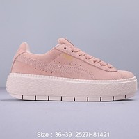 Puma Rihanna Suede Platform Core Popular Women Casual Thick Sole Sport Shoes Sneakers 2#
