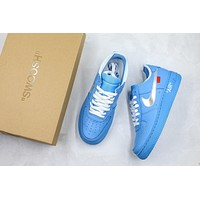 Off-white X Air Force 1 Low 07 Mca University Blue