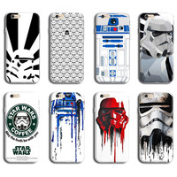 6 PLUS CASE FOR APPLE IPHONE 6S PLUS MOBILE PHONE BACK COVER CASE R2D2 STAR WARS COFFEE STORMTROOPER