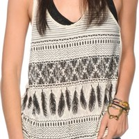 Empyre Casey Tribal Feather Tank Top