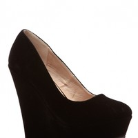 Black Faux Suede Classic Platform Wedges @ Cicihot Wedges Shoes Store:Wedge Shoes,Wedge Boots,Wedge Heels,Wedge Sandals,Dress Shoes,Summer Shoes,Spring Shoes,Prom Shoes,Women's Wedge Shoes,Wedge Platforms Shoes,floral wedges