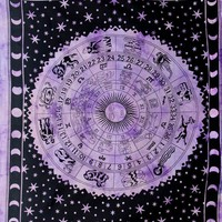 Purple Zodiac Tapestry